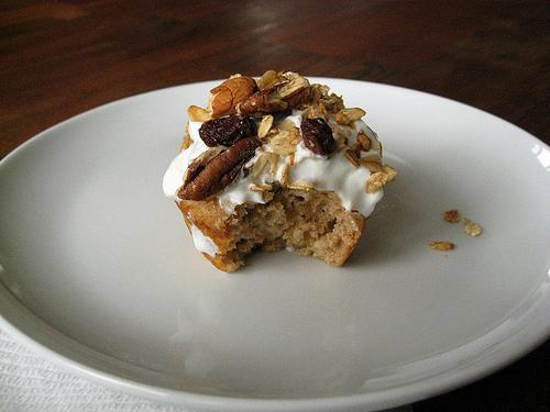 Banana-Yogurt-Granola Muffins