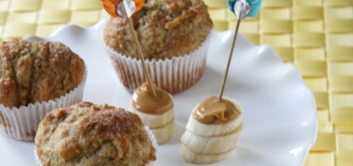 Recipe Banana, Peanut Butter and Honey Muffins