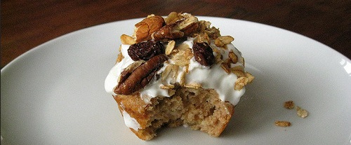 Recipe Banana-Yogurt-Granola Muffins