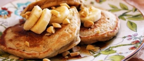 Recipe Whole Wheat Peanut Butter Banana Pancakes