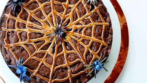Recipe Banana Halloween Chocolate Spider Web Cake