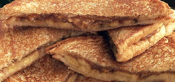 Recipe Fried Peanut Butter and Banana Sandwich