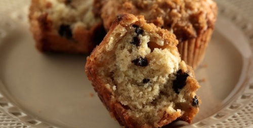 Recipe Cherry Banana Muffins with White Chocolate Chips