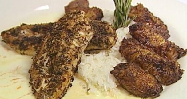 Recipe Caribbean Jerk Chicken Recipe with Fried Bananas