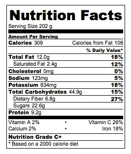 Peanut Butter Banana Ice Cream Nutrition Facts
