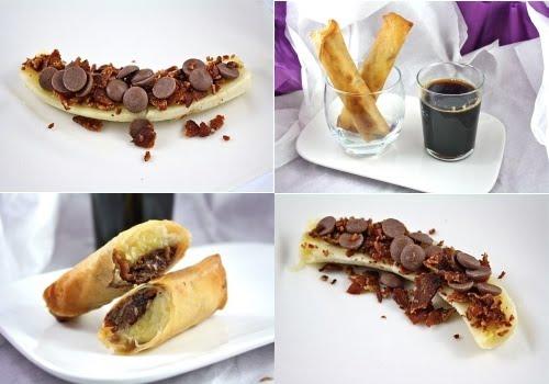 Recipe: Banana, Bacon & Chocolate Spring Rolls | Organic Odes