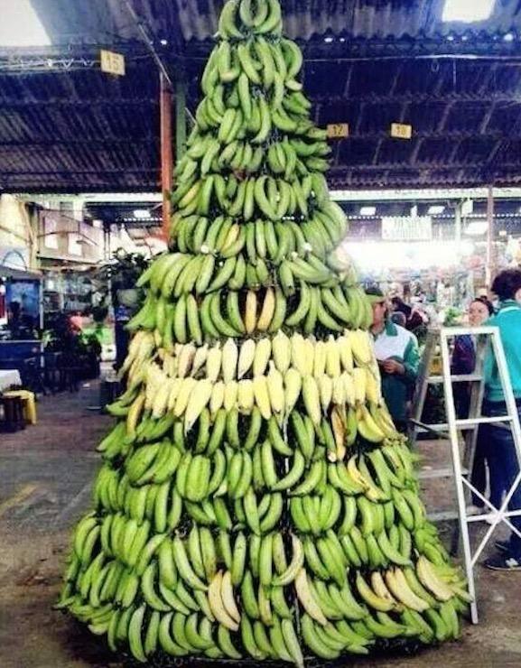 Banana Christmas Tree Display