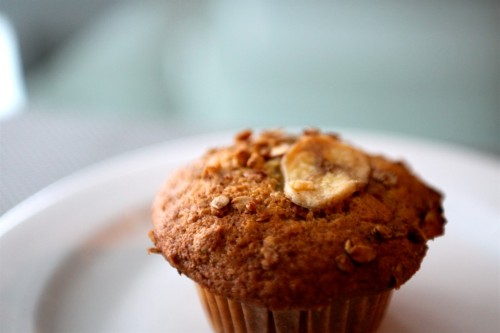 Recipe for banana crunch muffins